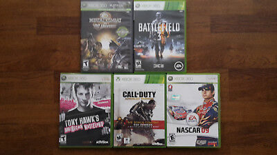 Xbox 360 games -  5 different games Battlefield 3 Mortal Kombat Call of Duty