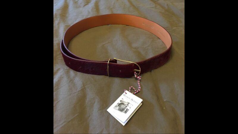 Maison Boinet Red Calf Skin Belt NWT
