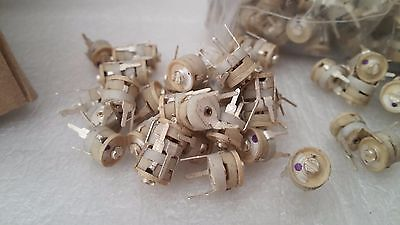 25pcs 520 Pf Ceramic Trimmer Variable Capacitor Silver Plated 250v Npo Europe