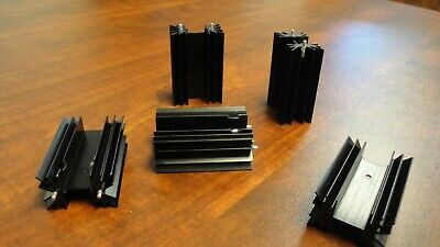 Lot Of 180 - Large Black Anodized Aluminum Heat Sinks For Transistor Or Triac