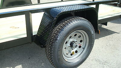 "205/75D15 TRAILER TIRE WITH 15"" SILVER MODULAR WHEEL"