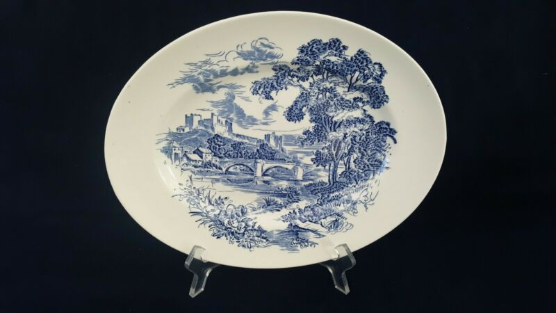 """VINTAGE ENOCH WEDGWOOD COUNTRYSIDE    12"""" OVAL SERVING PLATE."""