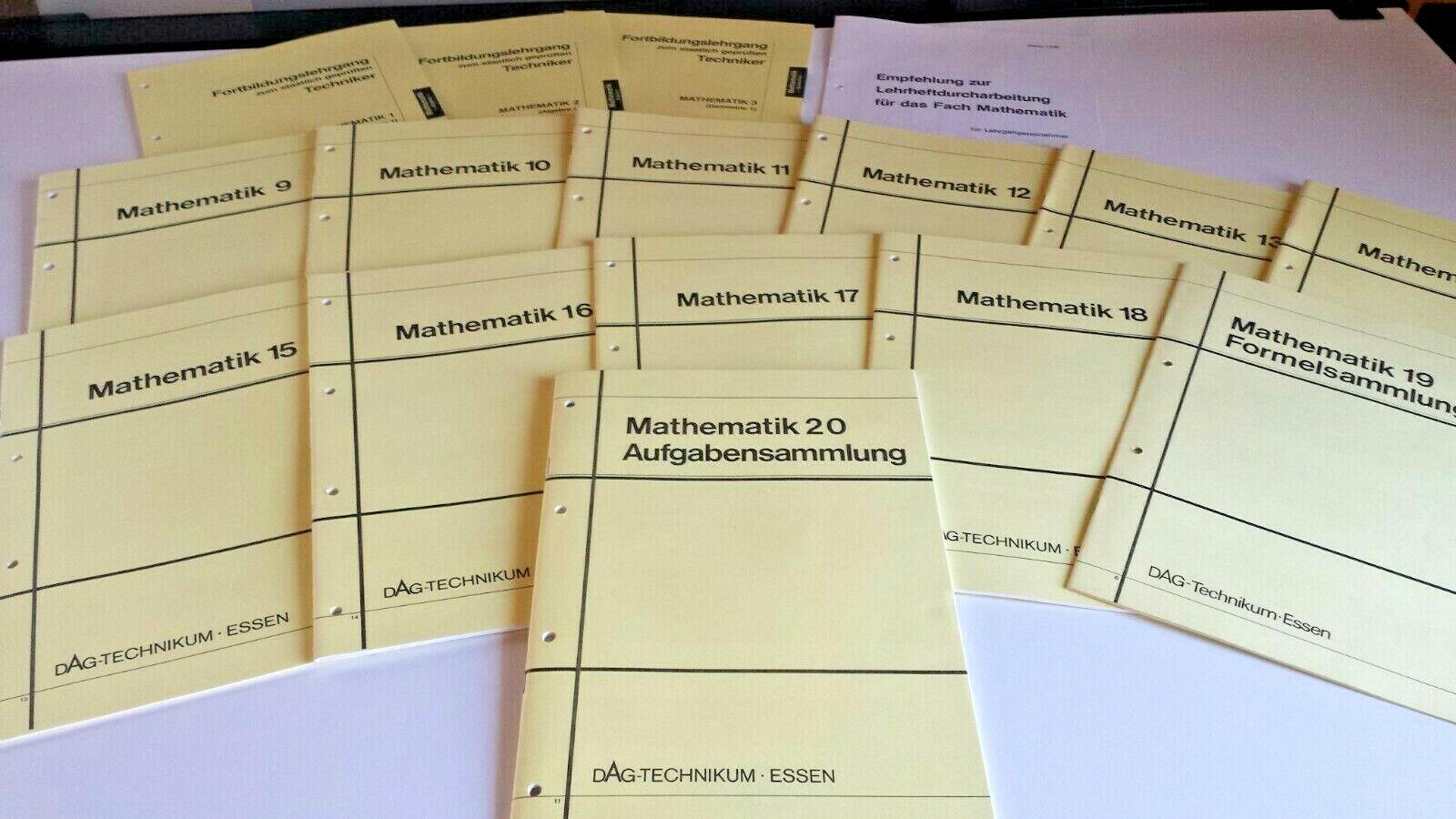 15 Mathematik - Lehrhefte, Grundlagen für technische Berufe, Fernunterricht