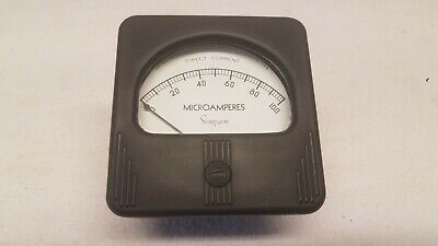 Vintage Simpson Electrical Panel Meter 0-100 Microamperes Dc In Box
