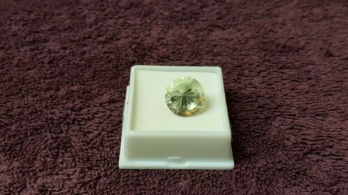 JTV 14mm Round Cut Prasiolite VVS Clarity 9.28 ct