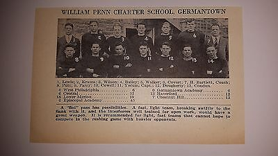 William Penn Charter School Germantown Pennsylvania 1927 Football Team Picture