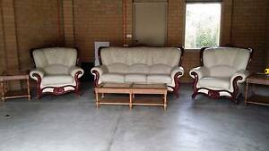 Lounge suit, Italian Leather and made , coffee table and two side Bulleen Manningham Area Preview