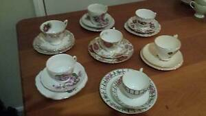 """Vintage bone china """"trio's""""  6 sets in total. Grafton, Colclough, Sadliers Crossing Ipswich City Preview"""