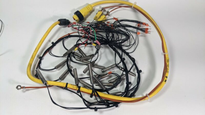 Watlow 120v 100w Firerod E1A52-E18T Lot of 24 with two thermocouples plus wires