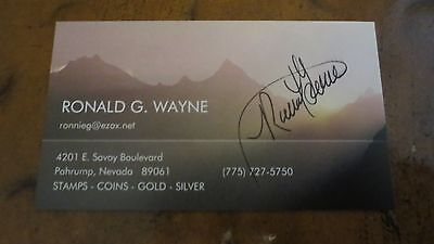 Ronald Wayne Co-Founder Apple Computer signed autographed business card