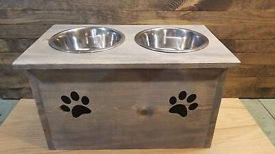 Pet-safe chemical-free 1 2 3 raised dog bowl stand feeder handmade large great