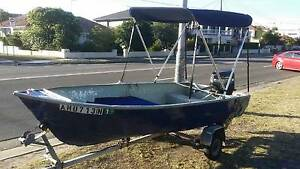 12 ft painted dehaviland aluminium boat with 5 h.p. mariner outbo Sans Souci Rockdale Area Preview