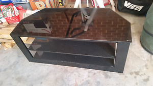 TV Table black glass Palmerston Gungahlin Area Preview