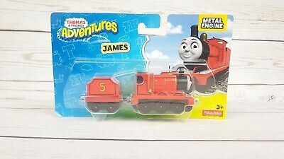 Fisher Price Thomas & Friends Adventures JAMES Metal Train Engine - NIP
