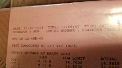 ASTEC MP4-1N-1Q-4NE-00, POWER SUPPLY MVP SERIES