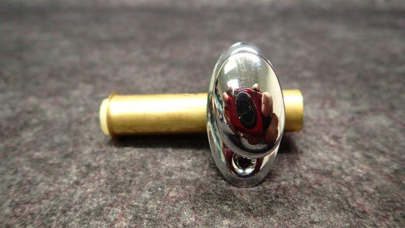 (2) Ives 48B26 Mortise Door Bolt (Nylon Bolt) Solid Brass-Bright Chrome Finish