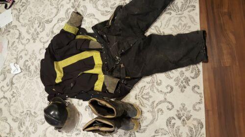 Firefighter Lot Bunker Gear Turnout Vintage Hip boots fireman