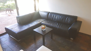 Beautiful genuine leather , black corner lounge / sofa RRP $3900 Craigie Joondalup Area Preview