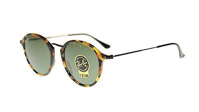 Ray Ban Men s Sunglasses RB2447 1157 Havana With Green Lens Round 49mm  Authentic e204c7637d