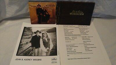 JOHN & AUDREY WIGGINS HEAD SHOT WITH PROMO CD & SCRAPBOOK ORIGINAL GIG SCHEDULE