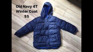Old Navy 4T winter coat