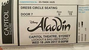 Aladdin - Sydney, Capitol Theatre, Wed 18/01 8:00pm, 3 x tickets Glenwood Blacktown Area Preview