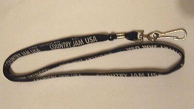Country Jam USA Promo Black Double Sided Lanyard