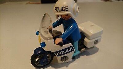 PLAYMOBIL LOT VEHICULE MOTO POLICE + PERSONNAGE VOITURE JEU JOUET 10