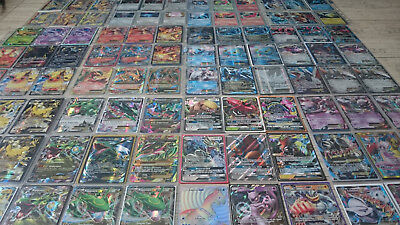 100 verschiedene Pokemon Karten mit EX/GX