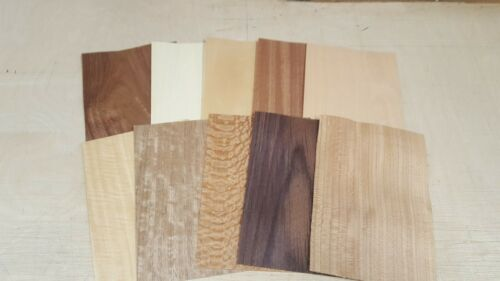 Wood+Veneer+Sample+Pack+-+10+PIECES+220mm+x+150mm+-+for+marquetry+-+Pack+119