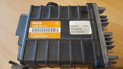 VW POLO 86C  T2 BUS ENGINE ECU CONTROL UNIT BOSCH 0280000743 030906026