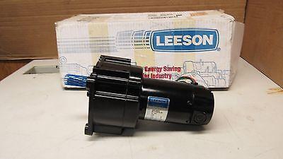 New Leeson M1115028 Dc Gearmotor 90vdc 120hp 985.606d 351 Ratio Motor Gearbox