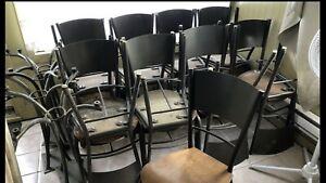 17 chaise robuste commercial acier