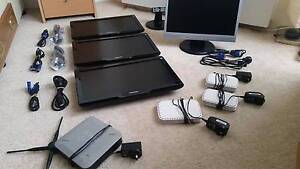 4 monitors (PHILIPS & AOC) + 2 switches + 2 modems + 20 DVD Perth Perth City Area Preview