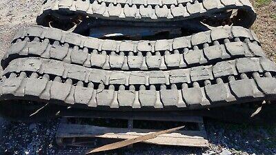 Used Set 400x86x60 Rubber Tracks Takeuchi Tl12 Cat 279 289 299 D Block Pattern