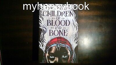 SIGNED Children of Blood and Bone by Tomi Adeyemi (Legacy of Orisha) autographed