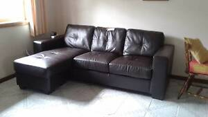 Leather look lounge Taree Greater Taree Area Preview