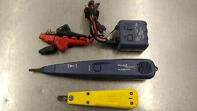 Fluke Networks Pro3000 Probe Toner W Siemon S714 Punch Down Tool