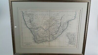 Antique Map of South Africa - J W Lowry - Chapman and Hall, England