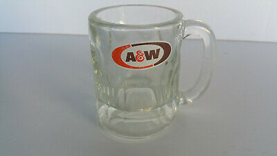 Vintage A & W Root Beer Mug Rare Thick Glass No Chips