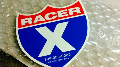 """ORIGINAL RACER X ILLUSTRATED DECAL 9 X 8.5"""" BRAND NEW"""