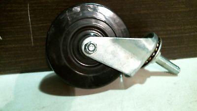 Shepherd Hardware 9196 Soft Rubber Wheel Caster 4 X 12 Stem Free Shipping