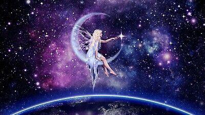 US SELLER- discount home decor moon galaxy fairy art poster - Discount Home Decor