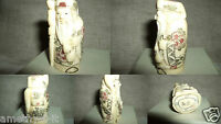 Nazuke Netsuke Statuina Scultura Holy Man Kimono Santone Osso Yak Bone China -  - ebay.it