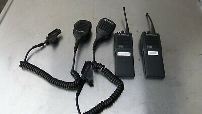 Lot Of 2 Motorola H01sdd9pw1bn Mts2000 Flashport Handie-talkie Fm Radio W Mic