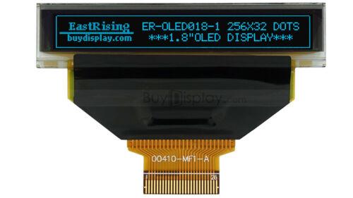 "Blue Serial SPI I2C 1.8"" 256x32 OLED Display Module w/Tutorial,Free Connector"