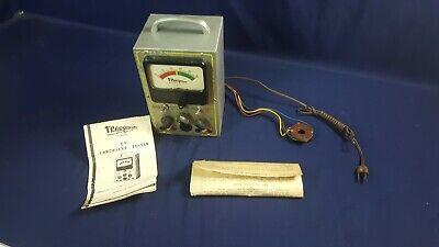 Vintage Transvision Tv Component Tube Tester Cathode Rejuvenator 3-day Refund