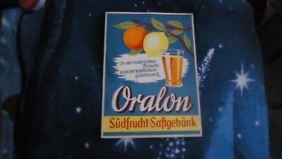Oralon Südfrucht - Saftgetränk alte Werbepappe 50er Jahre