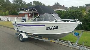 Quintrex  estuary angler 14.5 ft Yamaha 40 only 49hrs Long Jetty Wyong Area Preview