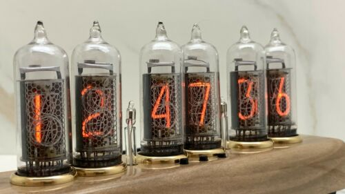 Nixie Tube Clock Easy Replaceable IN-14 Nixie Tubes, Nut Tree, Home Decor